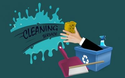 Commercial cleaning with getting tips